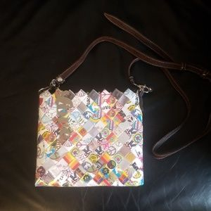 Peace & Love Candy Wrapper Style Purse
